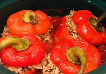 easy slow cooker stuffed peppers