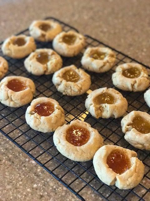 thumbprint cookies Hacienda Maize