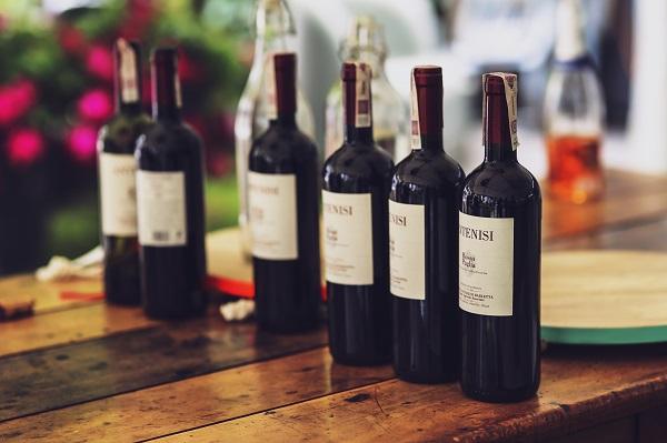 bottles of red wine