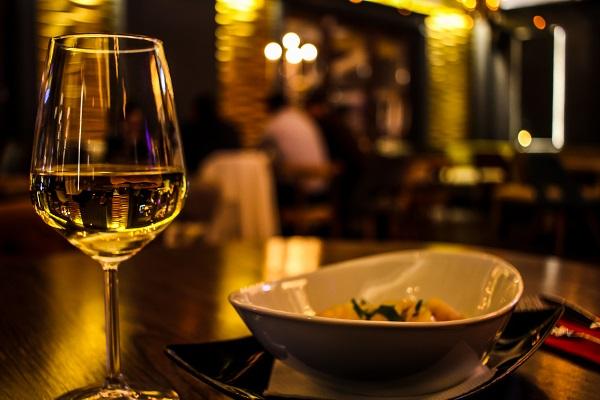 white wine and dinner